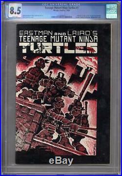 Teenage Mutant Ninja Turtles #1 CGC 8.5 (W) Origin 1st Splinter 1st Shredder