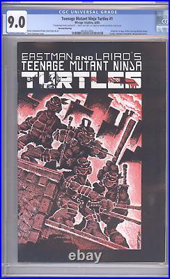 Teenage Mutant Ninja Turtles #1 CGC 9.0 (2nd Print) Remarked by Eastman & Laird
