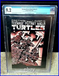 Teenage Mutant Ninja Turtles #1 CGC 9.2 1st Print! White Pages! DOUBLE SIGNED