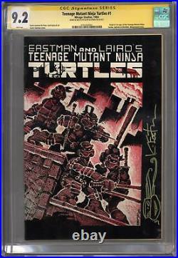 Teenage Mutant Ninja Turtles #1 CGC 9.2 Kevin Eastman Sig Series with Sketch (W)