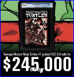 Teenage Mutant Ninja Turtles 1 CGC 9.2 WP 1st Print SS & Sketch 2011410001