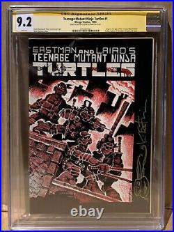 Teenage Mutant Ninja Turtles 1 CGC 9.2 WP 1st Print SS & Sketch 3791850001