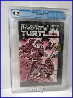 Teenage Mutant Ninja Turtles #1 CGC 9.2 unpressed 3rd Print Mirage Studios1985