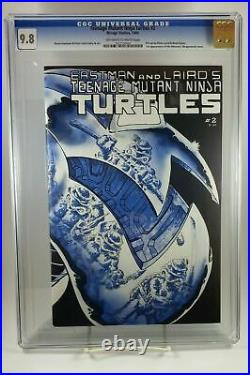 Teenage Mutant Ninja Turtles #1 CGC 9.6 #2 CGC 9.8 1st Print White Pages NM