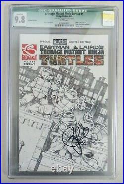 Teenage Mutant Ninja Turtles #1 CGC 9.8 2005 PBBZ Limited Ed Peter Laird Signed