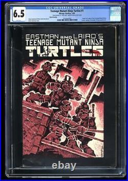 Teenage Mutant Ninja Turtles #1 CGC FN+ 6.5 Signed Eastman/Laird! 3rd Print