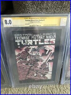 Teenage Mutant Ninja Turtles #1 CGC SS 8.0 Third Printing signed Kevin Eastman