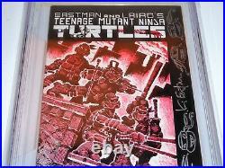 Teenage Mutant Ninja Turtles #1 CGC SS 9.0 TMNT Turtles Sketch by KEVIN EASTMAN