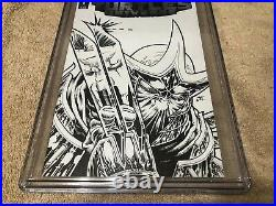 Teenage Mutant Ninja Turtles 1 CGC SS 9.8 Casey Jones v Shredder Hulk 340 Sketch