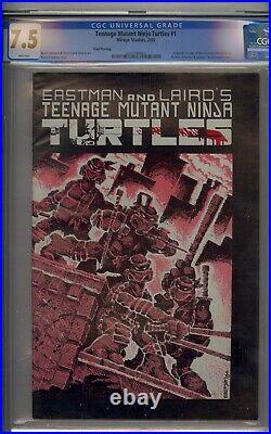 Teenage Mutant Ninja Turtles #1 Cgc 7.5 3rd Printing White Pages
