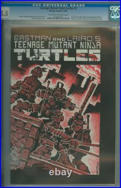Teenage Mutant Ninja Turtles #1 Cgc 8.5 Origin + 1st Ninja Turtles