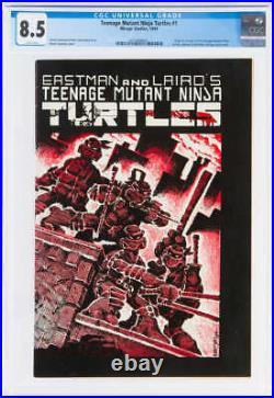 Teenage Mutant Ninja Turtles #1 Cgc 8.5 White Pages //origin + 1st Ninja Turtles