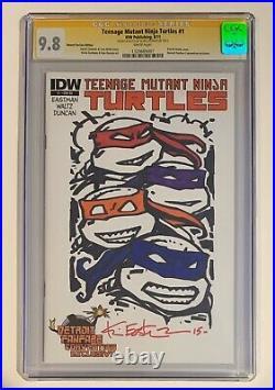 Teenage Mutant Ninja Turtles #1 Cgc Ss 9.8 Blank Eastman Color Sketch Tmnt