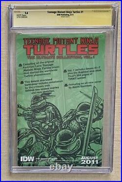 Teenage Mutant Ninja Turtles #1 Eastman Signed CGC 9.8 (IDW 2011)