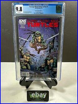 Teenage Mutant Ninja Turtles #1 Kevin Eastman Ri-a Variant Cgc 9.8 Tmnt Idw 2011