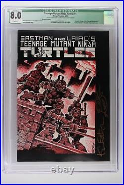 Teenage Mutant Ninja Turtles #1 -Mirage 1984- CGC 8.0 Signed Eastman 2nd Print