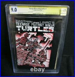 Teenage Mutant Ninja Turtles #1 Mirage 2nd Print Kevin Eastman Cgc Signature 9.0