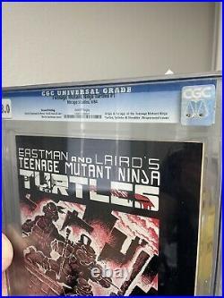 Teenage Mutant Ninja Turtles #1 Second Print CGC 8.0 Mirage 1984 TMNT 1