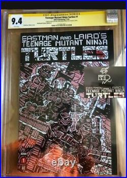 Teenage Mutant Ninja Turtles #1 Shattered Variant CGC 9.4 SS sketch IDW