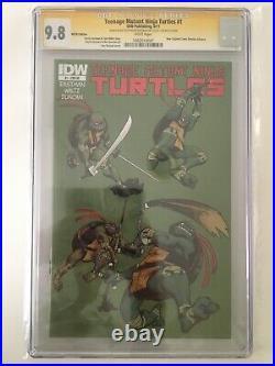 Teenage Mutant Ninja Turtles 1 Signed Sketch Kevin Eastman CGC 9.8
