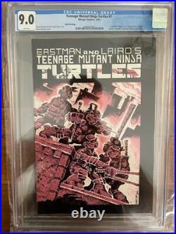 Teenage Mutant Ninja Turtles 1 Third Print CGC 9.0 White Pages Mirage 1985