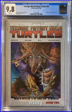 Teenage Mutant Ninja Turtles #20 (Mirage 1989) CGC 9.8! Return to New York pt 2