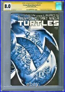 Teenage Mutant Ninja Turtles #2 1st Print, CGC 8.0, Signed and Sketch