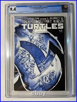 Teenage Mutant Ninja Turtles #2 1st Print CGC 9.4 Off-White to White Pages