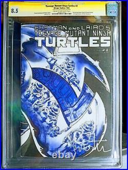 Teenage Mutant Ninja Turtles #2 CGC SS 8.5 Eastman Autograph 1st Print 1984