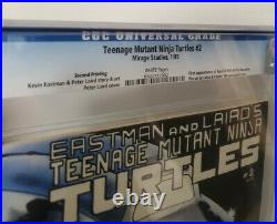 Teenage Mutant Ninja Turtles #2 Second 2nd Print, CGC 9.8 TMNT White Pages Rare