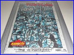 Teenage Mutant Ninja Turtles #38 CGC SS Signed HUGE Sketch K. EASTMAN COWABUNGA