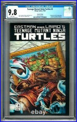 Teenage Mutant Ninja Turtles #3 (1988) CGC 9.8 White Pgs. 2nd Print