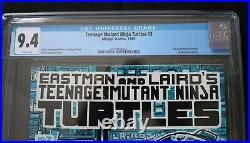 Teenage Mutant Ninja Turtles #3 Mirage Studios TMNT CGC 9.4 White 1st Print TMNT