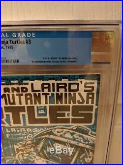Teenage Mutant Ninja Turtles #3 NYCC variant cover. CGC 9.0 with White pgs. TMNT