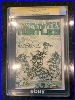 Teenage Mutant Ninja Turtles #4 CGC 9.6 SS 1985 signed by Kevin Eastman
