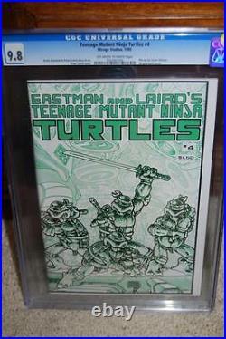 Teenage Mutant Ninja Turtles #4 CGC 9.8 TMNT Key Independent! D5 116 cm clean
