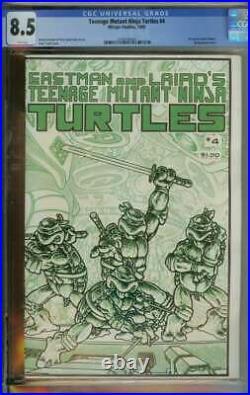 Teenage Mutant Ninja Turtles #4 Cgc 8.5 White Pages // 1st Print Kevin Eastman