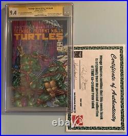 Teenage Mutant Ninja Turtles #4 Comic Mirage Studios 1987 SS CGC 9.4 ERROR TMNT