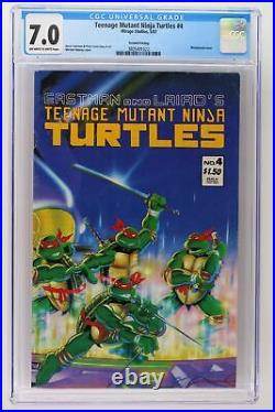 Teenage Mutant Ninja Turtles #4 Mirage Studios 1987 CGC 7.0 2nd Print