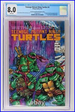Teenage Mutant Ninja Turtles #4 -Mirage Studios 1987- CGC 8.0 2nd Print/ERROR