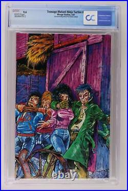 Teenage Mutant Ninja Turtles #4 Mirage Studios 1987 CGC 9.4 2nd Print/Error