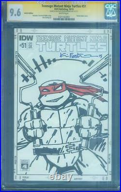 Teenage Mutant Ninja Turtles 51 CGC SS 9.8 Eastman Original Sketch 4 Book AE set