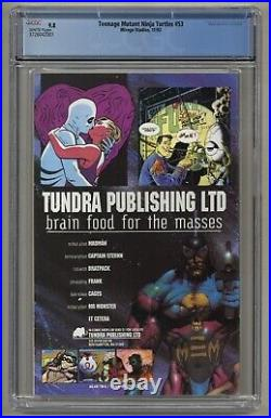 Teenage Mutant Ninja Turtles 53 (CGC 9.8) White pgs City at War part 4 (j#5270)