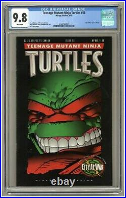 Teenage Mutant Ninja Turtles 58 (CGC 9.8) White pgs City at War part 9 (j#3440)