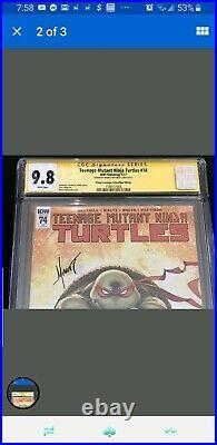 Teenage Mutant Ninja Turtles #74 Marat Planet Awesome Collectibles CGC 9.8 SS