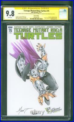 Teenage Mutant Ninja Turtles 75 CGC SS 9.8 Shredder Spider Man 301 Homage Sketch