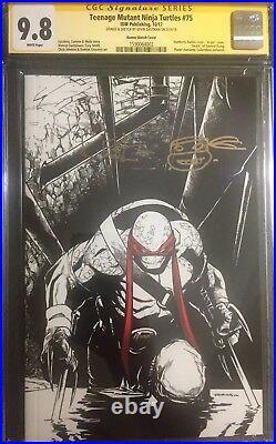 Teenage Mutant Ninja Turtles #75 Cgc Ss 9.8 Sketch Variant Signed Kevin Eastman
