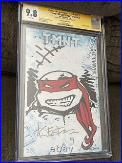 Teenage Mutant Ninja Turtles 78 CGC 9.8 SS KEVIN EASTMAN SKETCH RAPHAEL