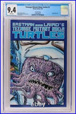 Teenage Mutant Ninja Turtles #7 Mirage 1989 CGC 9.4 Wraparound cvr 2nd Print