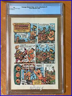 Teenage Mutant Ninja Turtles Adventures #1 1st Krang, Bebop & Rocksteady CGC 9.6